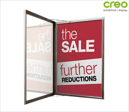 Outdoor display poster case poster picture frames from creo ireland for Exterior display case