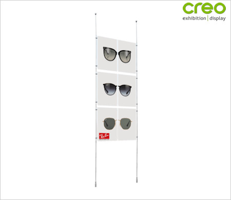 Image of a Floor to Ceiling Poster Hanging Kit